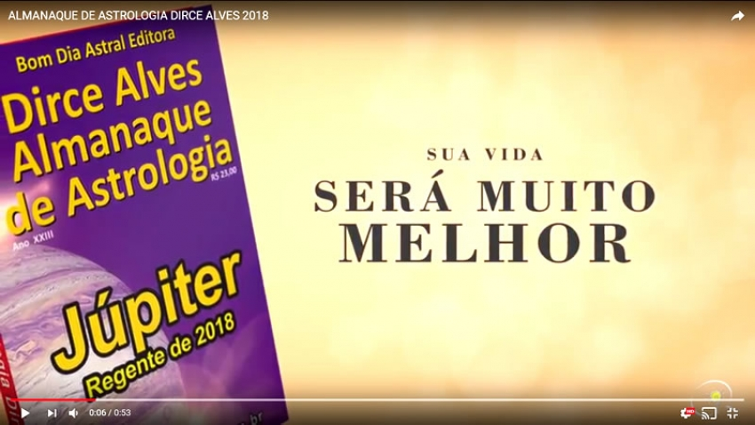 ALMANAQUE DE ASTROLOGIA DIRCE ALVES 2018